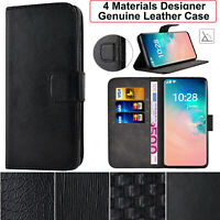 SamsungA40 Luxury Genuine Leather Wallet Stand Cover Case For Samsung Galaxy A40