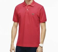 Lacoste Men's Classic Piqué L.12.12 Polo Shirt Mesh $89.50 NWT Red Goji Red 6/XL