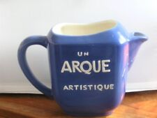 Arque Artistique Restoration Made in Portugal Blue Pottery Water Pitcher Mint