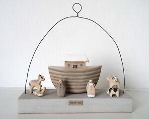 East of India, Noah's Ark Wooden Scene, Christening present, child's bedroom