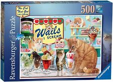 RAVENSBURGER PUZZLE*500 TEILE*STEVE READ*THE CAT THAT GOT THE  CREAM*RAR*OVP