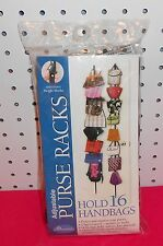 Adjustable Purse Rack For Doors Or Walls - Up To 16 Bags Or Other Accessories