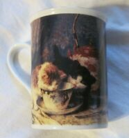 VICTORIAN GREETINGS 1898 The Cup That Refreshes  Cats Kittens Mug/Cup RARE