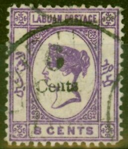 Labuan 1891 6c on 8c Dp Violet SG34 Fine Used