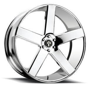 "Dub S115 Baller 22x9.5 6x5.5"" +19mm Chrome Wheel Rim 22"" Inch"