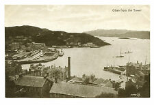circa 1915 Oban from the Tower Scotland Vintage Postcard