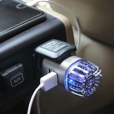 Car Air Purifier Ionizer with dual USB Car Charger Eliminates Smoke, pets odor
