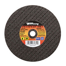 Forney  Metal Cut-Off Wheel  4 in. Dia. x 1/16 in. thick  x 3/8 in.