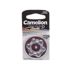 "6 Pack Camelion Premium Long Life ZincAir Hearing Aid ""A312"" 1.4V Battery 6 Each"