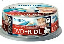 25 PHILIPS 8.5GB Dual Layer Printable Discs
