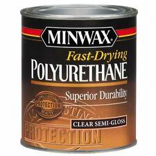 Minwax 63005444 Fast Drying Polyurethane Clear Finish, quart, Semi-Gloss