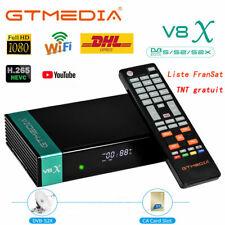 GTMEDIA V8X 1080p Récepteur Satellite Wifi avec Lecteur de Carte CA - Noir