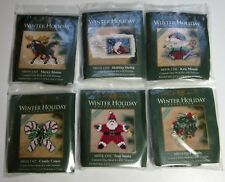 LOT of 6 MILL HILL WINTER HOLIDAY Glass Bead Counted Cross Stitch KITS 2011