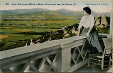 Mme Schumann Heink at Home Grossmont near San Diego CA Postcard B3