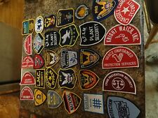 PATCH LOT SET 31 DIFFERENT NATIONAL SECURITY PROTECTION OFFICER AMGUARD PATCHES