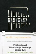 Cartridge Tonabnehmer Screws Nuts Nylon Washers Tools mounting Super Kit *NEU*