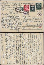 1942 Milan Italy Postcard Cover Litzmannstadt Ghetto Germany Rebecca Rothschild