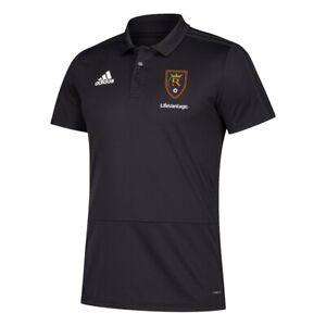 Real Salt Lake MLS Adidas Men's 2018 Sideline Black Coaches Polo Shirt