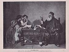 """Lehrer, Gelehrter, Schule, - """"Griechischer Lehrer"""". Stich um 1885 - A.Bida"""