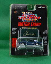 Racing Champions Mint Motor Trend 1968 Chevy Camaro #116 Blue 1997 Emblem Stand