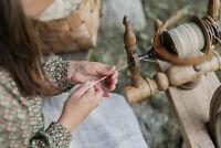Spinning Wool Roving Fiber 1 lb POUND Natural White