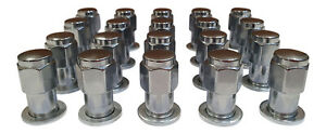 """20 x 7/16"""" Chrome Old Style Mag Wheel Nuts With 20 Washers Holden HR HK HT HG HQ"""