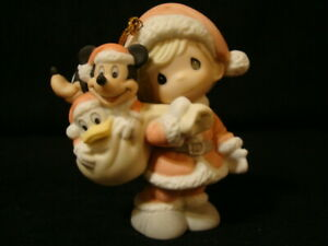 Precious Moments-Disney Showcase-Mickey-Donald-Goofy-Limited Edition Ornament