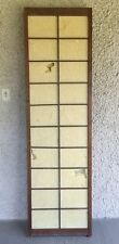 Large Vintage Japanese Shoji Screen Room Divider. Folding Wood Construction