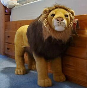 FAO Schwarz 35 Inch Jumbo Large Big Plush Lion for Room Nursery Zoo Play