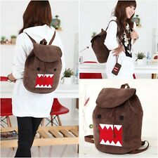 Domo Kun Plush Soft Cartoon Cute Covered Backpack Shoulder Bag School Rucksack