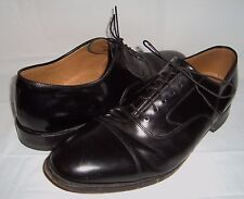 Johnston Murphy Black Leather Oxfords Lace Up Shoes 11
