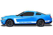 Vinyl Graphics Decal Wrap for 2010-14 Ford MUSTANG GT Side C-Stripe MATTE WHITE