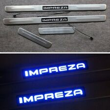 LED Door sill scuff plate Guards for Subaru IMPREZA 2008 2009 2010 2011