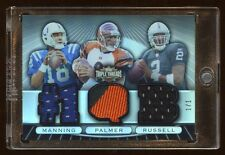 1/1 PEYTON MANNING / CARSON PALMER / RUSSELL RC TRIPLE JERSEY/PATCH 2007 TOPPS