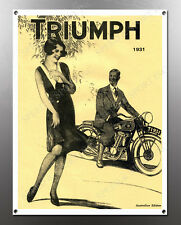 VINTAGE TRIUMPH 1931 IMAGE BANNER NOS IMAGE REPRODUCTION