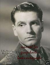 LAURENCE OLIVIER- PHOTOGRAPH - AUTOGRAPH ~1945
