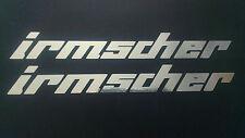 Irmscher chrome stickers x2 pair vauxhall corsa astra car window panel tailgate