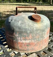 Oil Can Gas Gasoline Vintage EAGLE Canister 2 Gallon Galvanized Restore Old