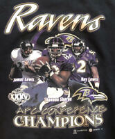 Vintage Baltimore Ravens Super Bowl XXXV NFL Football Sweatshirt Size XL