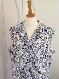 Vintage 1960s Mod/Gogo Swirly Print Shirtdress/?18