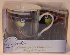 COUNTRYSIDE COLLECTION BLUE TIT MUG AND COASTER SET BOXED