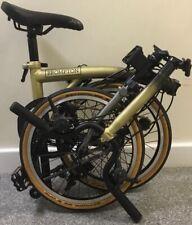 Gold Brompton M6E- X Titanium Black Edition fold bike £38 UK 🌎Worldwide *P&P*