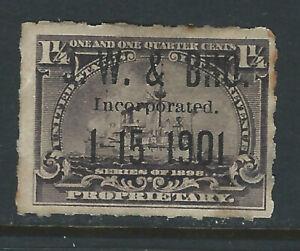 Bigjake: RB25, 1 1/4 cent Proprietary, J. W. & Bro.