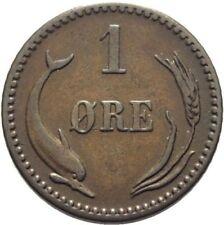 1889 Denmark 1 Ore-Dolphin/Wheat -Nice