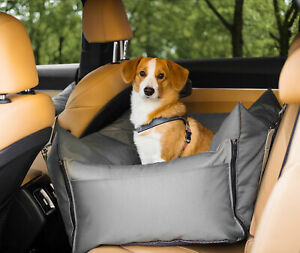 Pet Booster Car Seat Cushion Bed with Harness for Dog and Cat Durable Fabric