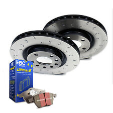 Mazda RX8 Brake Discs Pads Rear C Hook Grooved Discs and EBC Ultimax Pads
