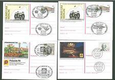 Stationery An37 Postcard Sc Germany 1985/87 Music Aviation (4 pcs) Below face