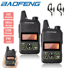 2x Baofeng BF-T1 Walkie Talkie Two Way Radio UHF 400-470Mhz Long Range Headset