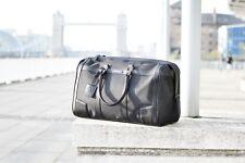 Black large gym bag, over night bag, Travel bag, leather straps