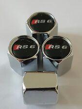 AUDI Wheel Valve Dust caps CHROME ALL COLORS ALL MODELS S LINE RS TT RS6 blk top